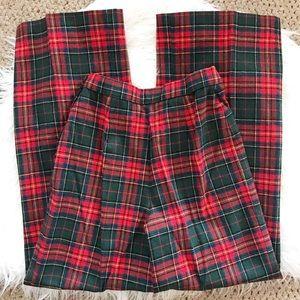   Vintage   high waisted wool blend plaid pants
